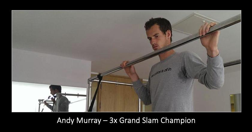Andy Murray doing Pilates