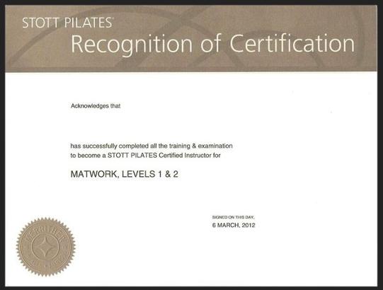 Stott Certification