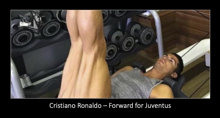 Cristiano Ronaldo doing Pilates