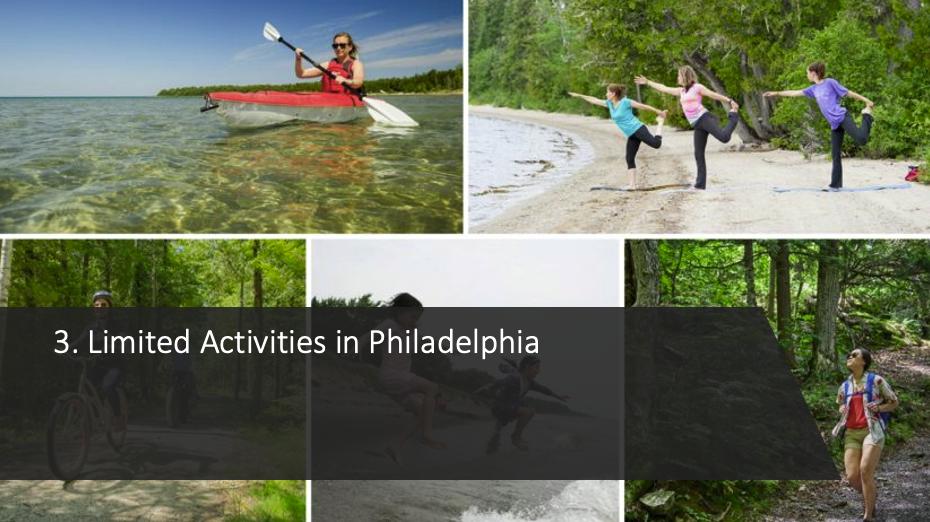 Limited Activities in Philadelphia
