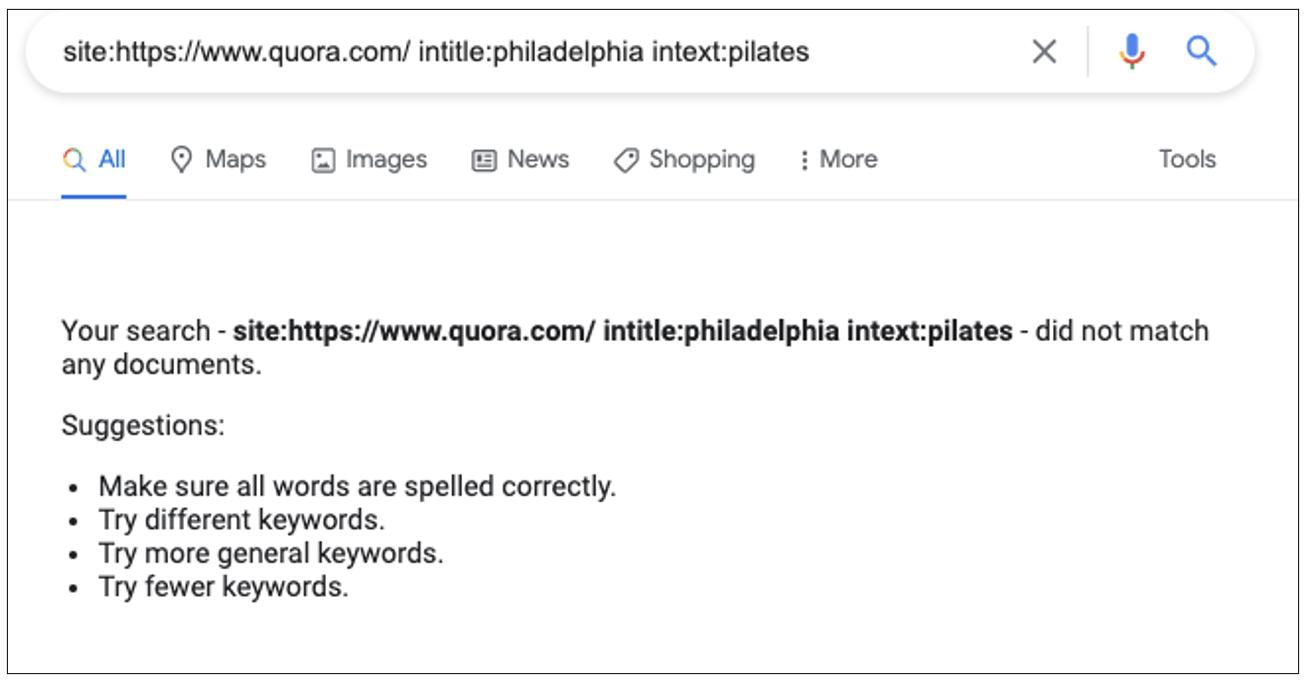 Quora Analysis of Pilates Philadelphia