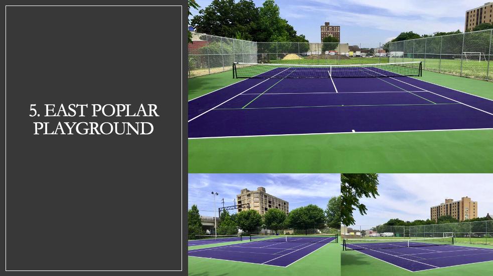 East Poplar Playground Tennis Courts