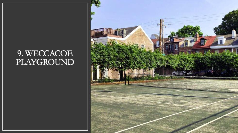 Weccacoe Playground Tennis Court